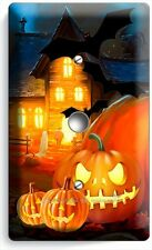 HALLOWEEN SCARY GHOSTS PUMPKINS LIGHT DIMMER CABLE WALL PLATE COVER DECORATION