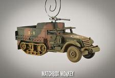 USA M3 Halftrack GMC Utah Beach WWII Army USMC Christmas Ornament 1/2 Track
