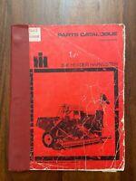 Parts Catalogue 8-6 Header Harvester International