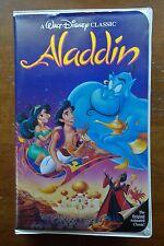 1993 ALADDIN VHS Movie Walt Disney's Black Diamond Classic Genie Robin Williams