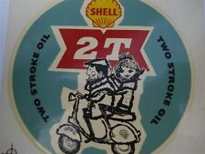 Shell 2T Two Stroke Oil Vintage Waterslide Large Lambretta Vespa Small (1FB119)