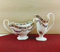 Antique Minton Creamer and Sugar Bowl Floral Patterns From 1873-1912 Signed by J