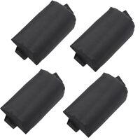 4pcs Headrest Head Cushion Pillow for Backyard Folding Lounge Chairs Black