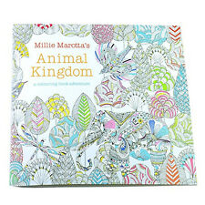 Children Adult Animal Kingdom Treasure Hunt Coloring Painting Book SH