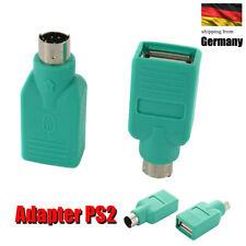 USB Buchse zu PS2 PS/2 Stecker Adapter Konvertor für PC Tastatur Maus
