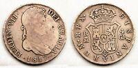 España-Fernando VII. 4 Reales 1817. Madrid. MBC-/VF- Plata 13 g. Escasa