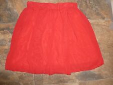 Love at TopShop Skirt Size S BNWT £28 6-8 Red Bow Thin Chiffon Dress Up Party