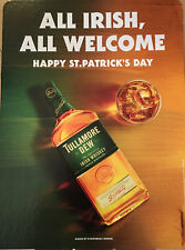 """Tullamore Dew """"All Irish Are Welcome"""" St Patricks Day Cardboard Sign  20 By 15"""