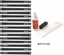 15 Golf Pride Tour Wrap 2G Black Standard Swing Golf Grips-0.600 Core-Grip Kit