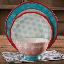 The Pioneer Woman Scalloped 12-Piece Dinnerware Set Exclusive Elegant Best Gift