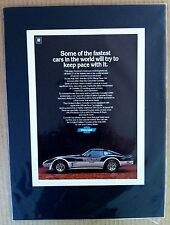 """1978 Chevrolet Corvette Indy Pace GM """"Ready to Display""""print car  ad 1979 1977"""