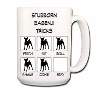 BASENJI Stubborn Tricks EXTRA LARGE 15oz COFFEE MUG