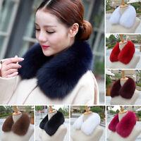 Real Vulpes lagopus Fox Fur Collar Women Scarf Wrap Furry Scarves & Shawls