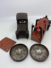 Vintage Toys Tin Cast Iron Steam Roller Tractor Toy Car Sedan Marx
