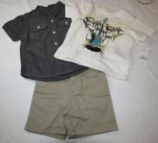 Baby boy's Calvin Klein shorts t shirt button up shirt 3 piece set 18 M $59.50
