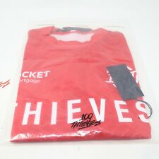 100 Thieves Primary Red Jersey Long Sleeve Streetwear NWT Mens Size Large