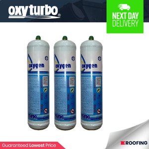 Oxyturbo Oxygen Cylinders x 3 For Oxyturbo Turbo Set 90 Lead Welding Kit