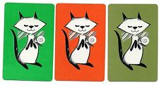 1970s cat SWAP CARDs  SELLING MANY playing CARD trio