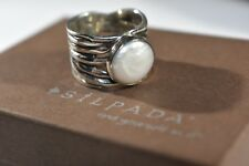 "RARE SIZE 9 Silpada Coin Pearl ""Mermaid"" Ring R1542 retired Sterling Silver"