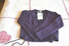 cardigan repetto cache coeur neuf  violet 5 ANS 70% LAINE 30% CASHEMIRE 79