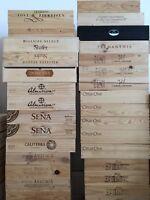 3x Weinkiste Holz 6er Kiste Deko Wein Shabby Chateau Regal Grand Cru OHK