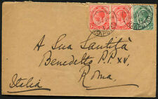 BRITISH SOUTH AFRICA to ITALY 1917 cover - V. Nice