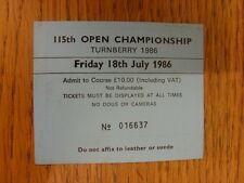 18/07/1986 Biglietto da Golf: 115th Open Championship [a Turnberry] blu. grazie F