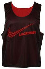 NIKE Lacrosse TANK Top MENS Mesh BLACK Red REVERSIBLE Small SIZE 454587 Man LOGO