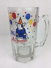 Bud Light Spuds MacKenzie Party Mug Heavy Glass Vintage Barware 32oz Beer Cup
