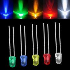 100Stück Mini LED Diodes Leuchtdiode 3mm Kingbright Light Bulb Diffus 5 Farbe