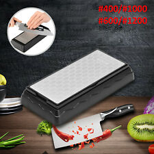 400#1000#600#1200 Double Sided Diamond Whetstone Sharpening Stone Sharpener Grit