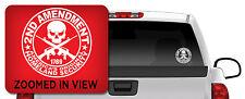 2ND AMENDMENT GUN Vinyl Decal Sticker Truck Window Car/ipad laptop