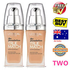 TWO LOREAL True Match Liquid Foundation L'Oreal Truematch C7 R7 ROSE AMBER