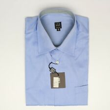 "NEW Ike Behar Solid Blue Dress Shirt 16-36 Button Front Cotton Twill ""Charles"""
