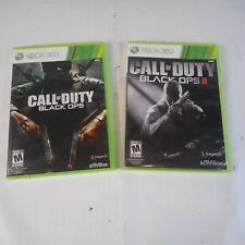 Xbox 360 Call of Duty: Black Ops & Call of Duty: Black Ops 2 No Manuals