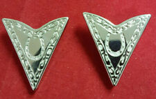 Square Dance Collar Tips. Silver Color MINT Condition. Nice Horse Shoe Design