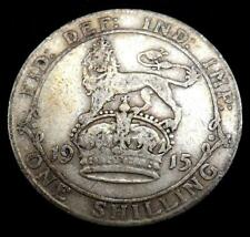 1915 George V Silver Shilling Coin - Great Britain.