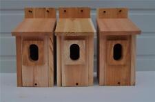 3 BLUEBIRD BIRD HOUSES NEST BOX CEDAR  PETERSON OVAL OPENING HANDMADE  FREE S/H