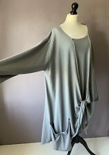 """DIVERSO Fabulous Stretch Jersey Lagenlook Tunic Top NEW TAGS BNWT OSFA 62"""" CH"""