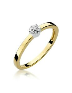 Damen Versprechen Ring Verlobungsring Antragsring 585 14k Gold Diamant