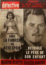 Détective n°767 - 1961 - Vauvillers - Rumegies - Le Tréport - Sacha Distel