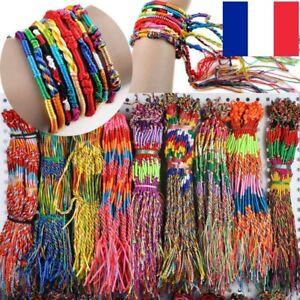 Lot 2x 5x 10x 20x Bracelet Brésilien Amitié Tressé Style Friendship Brazilian