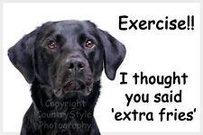 Black Labrador Retriever Pet Dog Funny Fridge Magnet exercise gift