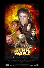Movie POSTER Star Wars Ep 1 2 3 all major characters collage 20x31 #008