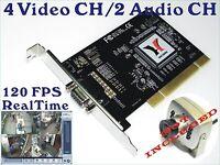 120 FPS 4 CH CCTV Security DVR PCI Card Surveillance System win XP Vista Win7 OS