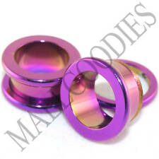"""0522 Hot Pink Screw-on Tunnels 9/16"""" Inch 14mm Plugs"""