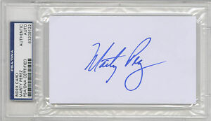 Marty Perez SIGNED 3x5 Index Card Atlanta Braves PSA/DNA AUTOGRAPHED
