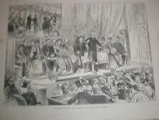 General Election Sketches William Gladstone Albert hall Edinburgh 1885 old print