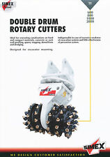 Simex TF 600 800 1000 2000 Double Drum Rotary Cutters Prospekt 9/02 2002