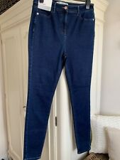 BNWT - NEXT blue denim jeans - high rise - skinny - 14L (more XL)